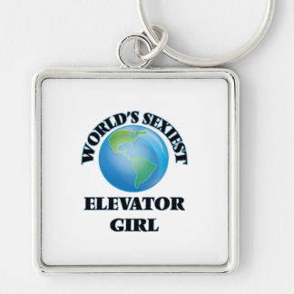 World's Sexiest Elevator Girl Keychain
