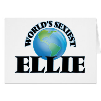 World's Sexiest Ellie Greeting Cards