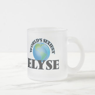 World's Sexiest Elyse Frosted Glass Mug