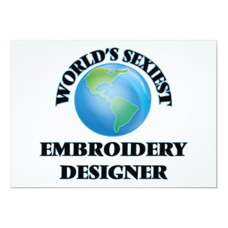 World's Sexiest Embroidery Designer Invitation