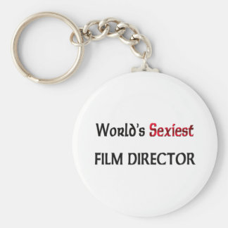 World's Sexiest Film Director Basic Round Button Key Ring