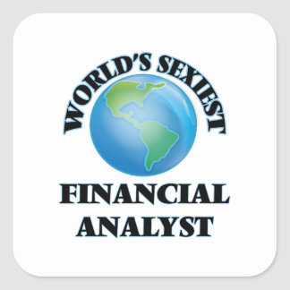 World's Sexiest Financial Analyst Square Sticker