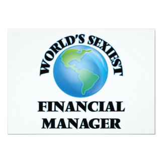 World's Sexiest Financial Manager Invitations