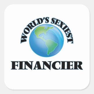 World's Sexiest Financier Square Sticker