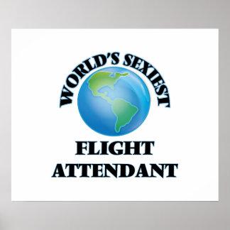World's Sexiest Flight Attendant Print
