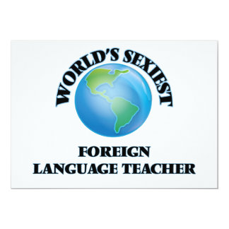 World's Sexiest Foreign Language Teacher Personalized Invites