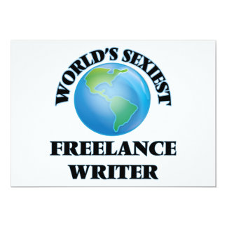 World's Sexiest Freelance Writer Personalized Invites