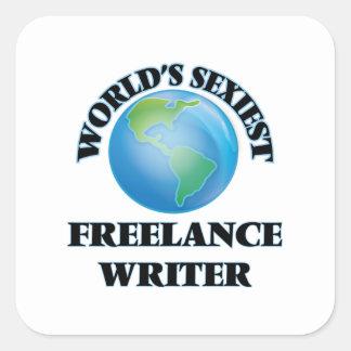 World's Sexiest Freelance Writer Sticker