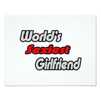 World's Sexiest Girlfriend 4.25x5.5 Paper Invitation Card