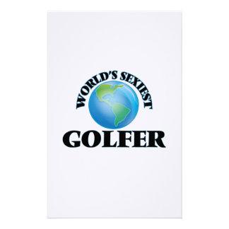 World's Sexiest Golfer Customized Stationery