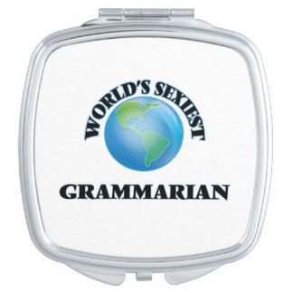 World's Sexiest Grammarian Compact Mirror