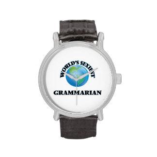 World's Sexiest Grammarian Wrist Watches