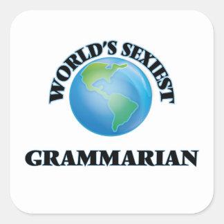 World's Sexiest Grammarian Square Sticker