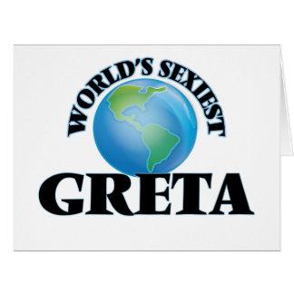 World's Sexiest Greta Big Greeting Card