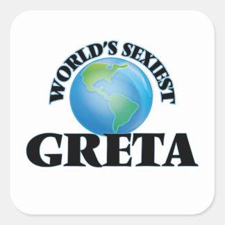 World's Sexiest Greta Square Sticker