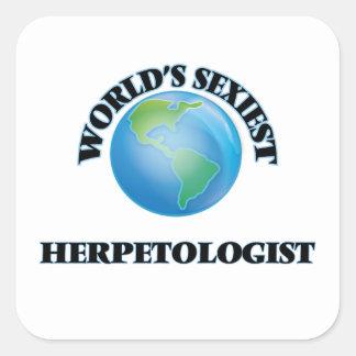 World's Sexiest Herpetologist Square Sticker
