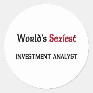 World's Sexiest Investment Analyst Round Stickers