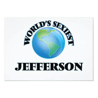 "World's Sexiest Jefferson 5"" X 7"" Invitation Card"
