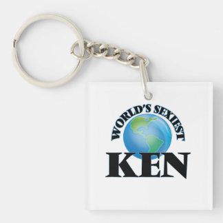 World's Sexiest Ken Square Acrylic Keychain