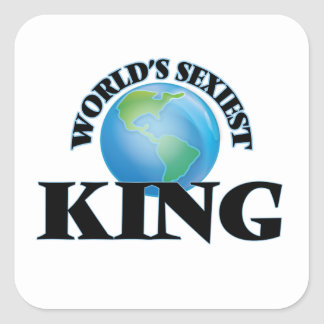 World's Sexiest King Square Sticker