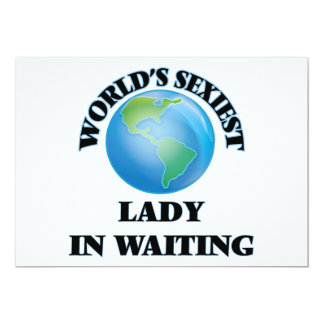 World's Sexiest Lady In Waiting Custom Announcements