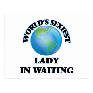 World's Sexiest Lady In Waiting Postcards
