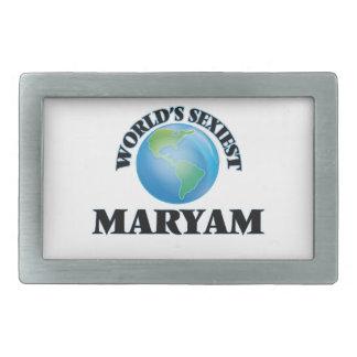 World's Sexiest Maryam Rectangular Belt Buckle