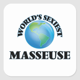 World's Sexiest Masseuse Square Stickers