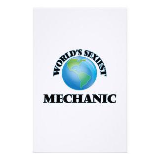 World's Sexiest Mechanic Customized Stationery