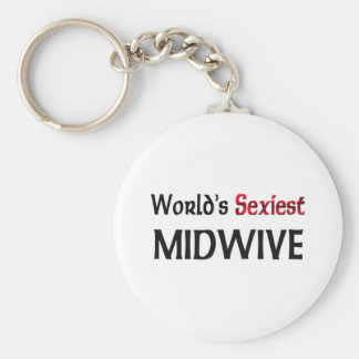 World's Sexiest Midwive Key Ring