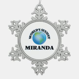 World's Sexiest Miranda Ornaments