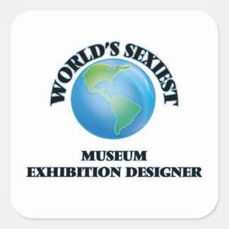 World's Sexiest Museum Exhibition Designer Square Sticker