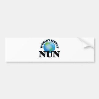 World's Sexiest Nun Bumper Sticker