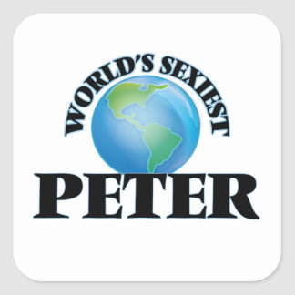World's Sexiest Peter Square Sticker