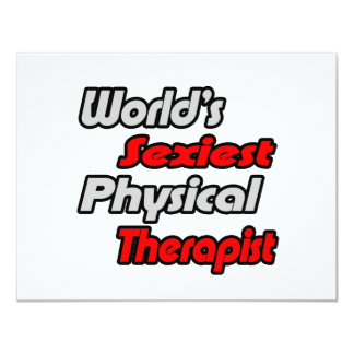 World's Sexiest Physical Therapist Custom Announcements