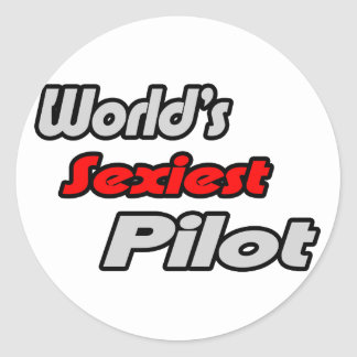 World's Sexiest Pilot Round Sticker