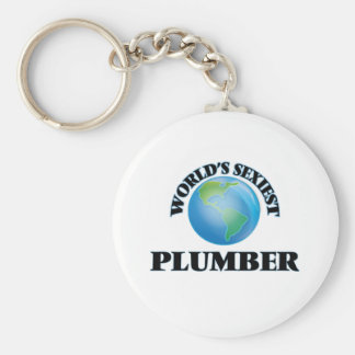 World's Sexiest Plumber Basic Round Button Key Ring