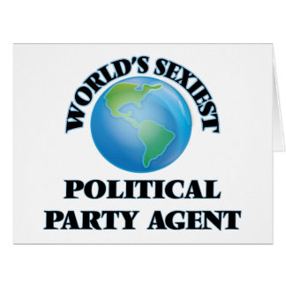 World's Sexiest Political Party Agent Card