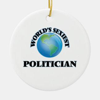 World's Sexiest Politician Christmas Ornament