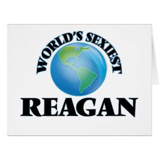 World's Sexiest Reagan Big Greeting Card