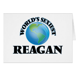 World's Sexiest Reagan Note Card