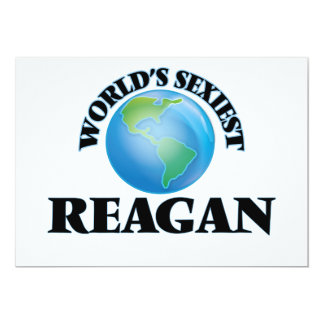World's Sexiest Reagan 5x7 Paper Invitation Card