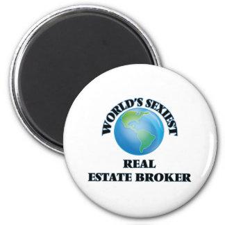 World's Sexiest Real Estate Broker 6 Cm Round Magnet