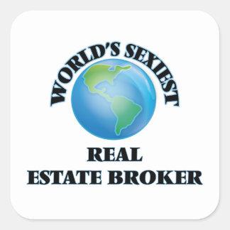 World's Sexiest Real Estate Broker Square Sticker