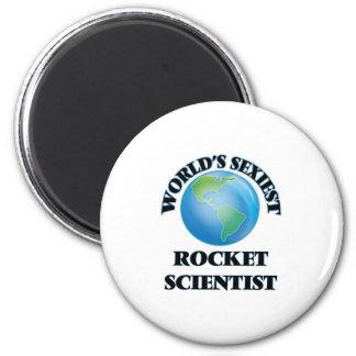 World's Sexiest Rocket Scientist 6 Cm Round Magnet