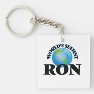 World's Sexiest Ron Square Acrylic Keychains