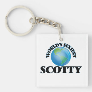 World's Sexiest Scotty Square Acrylic Key Chain