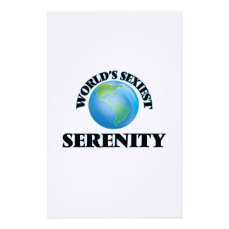 World's Sexiest Serenity Stationery Design