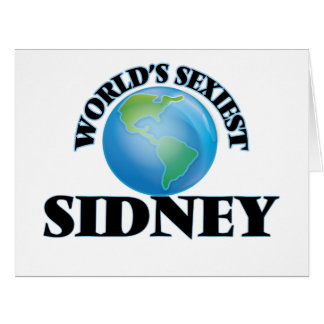World's Sexiest Sidney Big Greeting Card