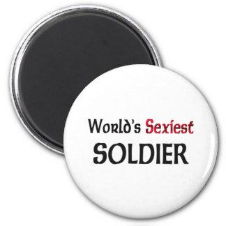 World's Sexiest Soldier 6 Cm Round Magnet